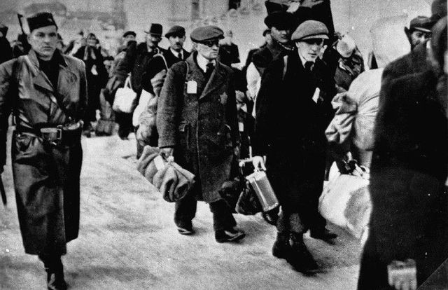 Nazis begin rounding Jews for concentration camps
