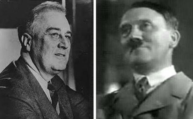 Roosevelt meets Hitler