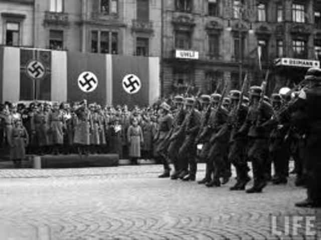 Hitler takes over Czechoslovakia