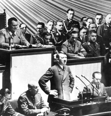 Hitler addresses the Reichstag