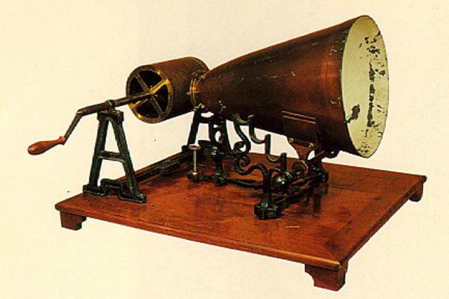 Leon Scott de Martinville's phonautograph