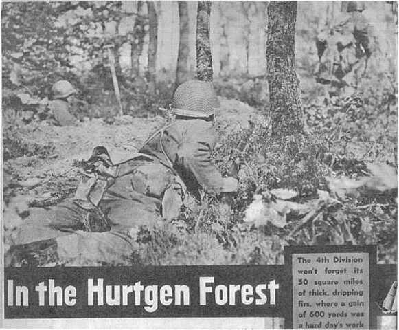 Start of  Battle of Hürtgen forest along the Siegfried line