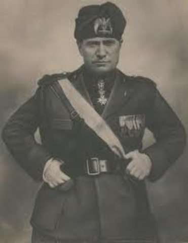 Benito Mussolini appointed Prime Minister of Italy