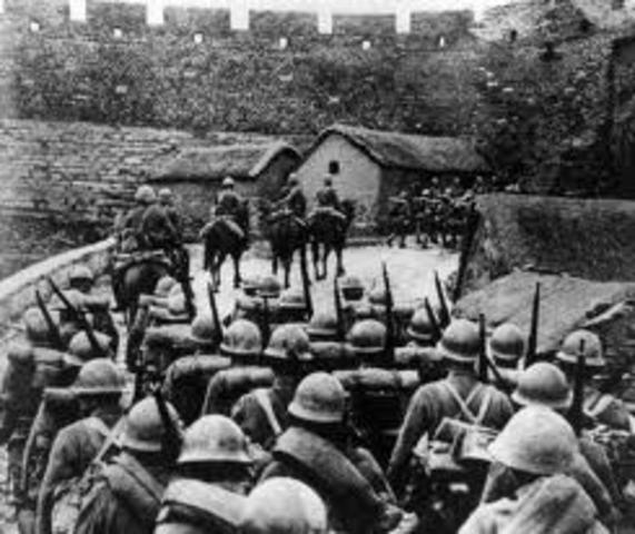 Japan's Army seizes Manchuria, China