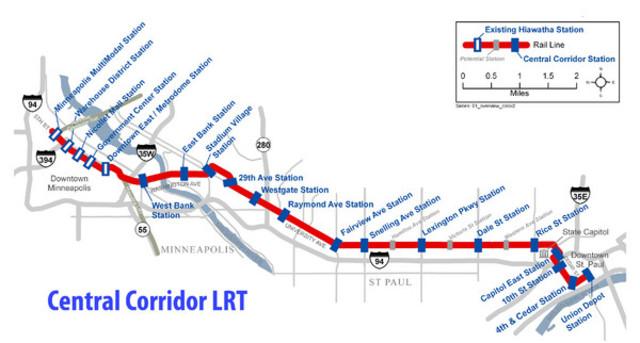 The Central Corridor Light Rail