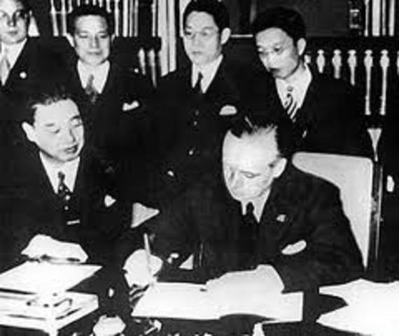 Japan Signs Anti-Comintern Pact