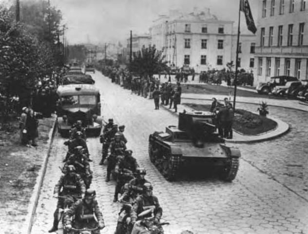 Hitler conquers Poland