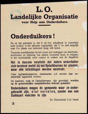 """Creation of the resistance network """"Landelijke Organisatie voor Hulp aan Onderduikers"""" in Limburg"""