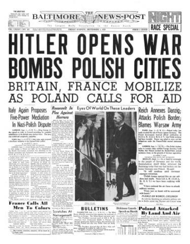 Germany bombs Poland