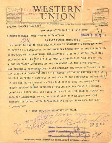 United Nations Charter is Written