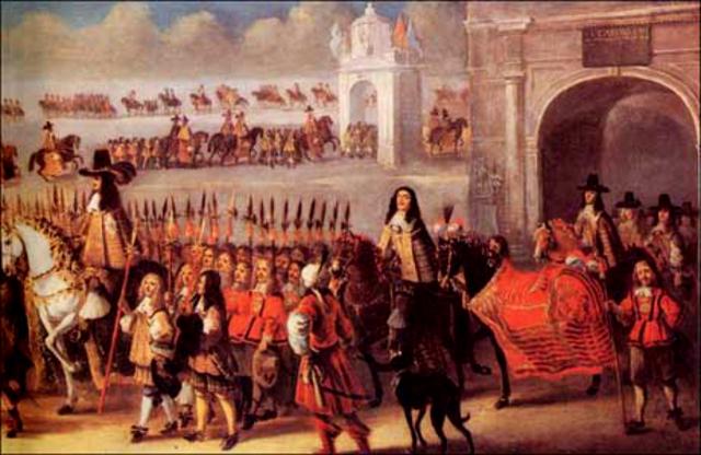 Charles II enters London