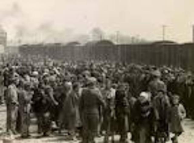 Last train of Jews to a concentration camp