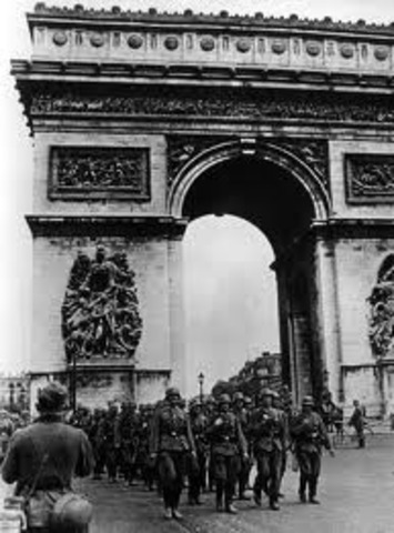 Germany invades France and forces it to surrender