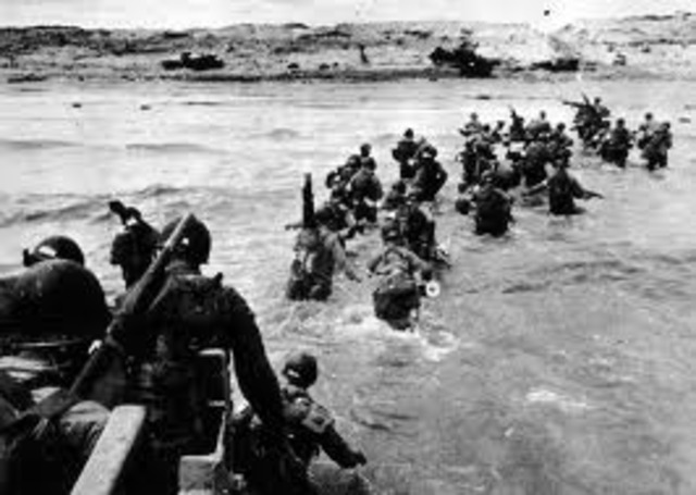 June - D-Day invasion of France at Normandy by Allies