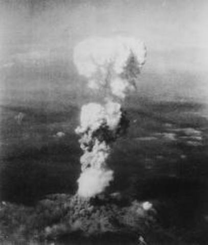 - First Atomic Bombs dropped