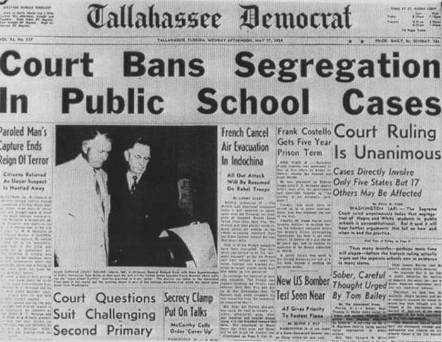 Brown vs. Board of Education (1954)
