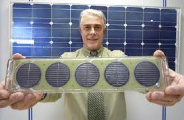 Las primeras placas solares
