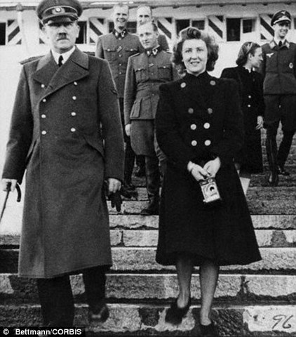 Hitler commits suicide with wife Eva Braun