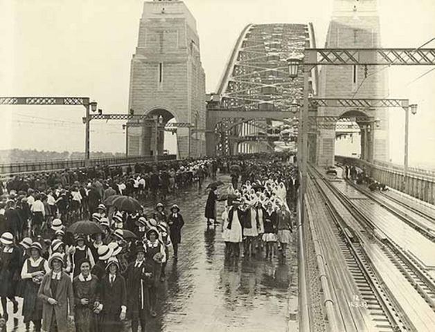 SYDNEY HARBOUR BRIDGE OPENED
