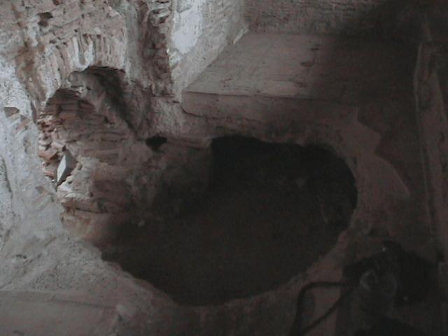 Jacob sneeks into a hole