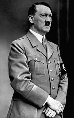 Adof Hitler became Chancellor of Germany