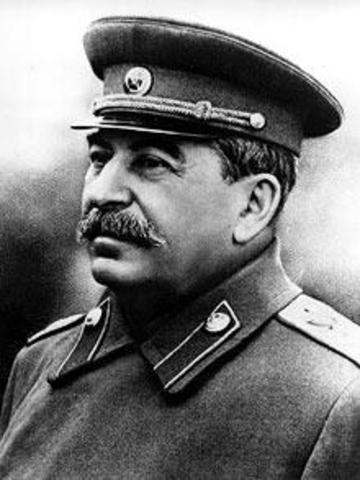 Josef Stalin sole dictator of the Soviet Union (USSR