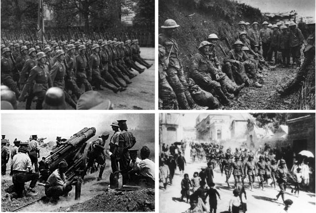 "Comenzó la primera guerra mundial también llamada ""la gran guerra"""