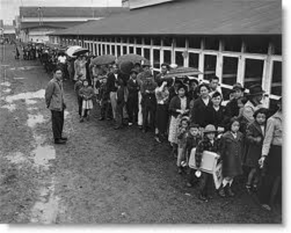 Japanese Americans interned in isolation camps