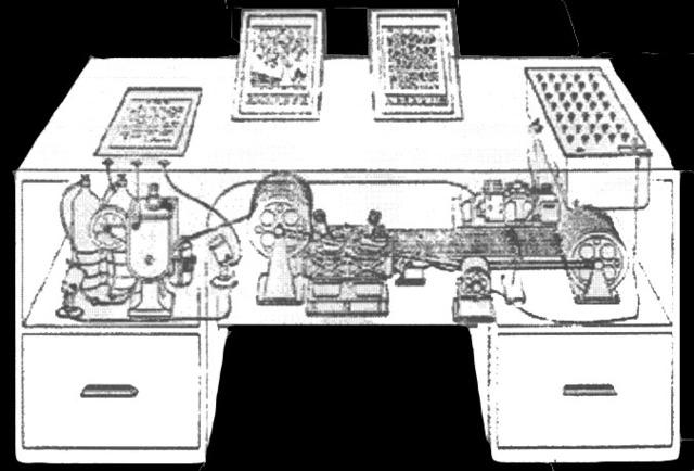 Máquina de resolver ecuaciones diferenciales de Vannevar Bush