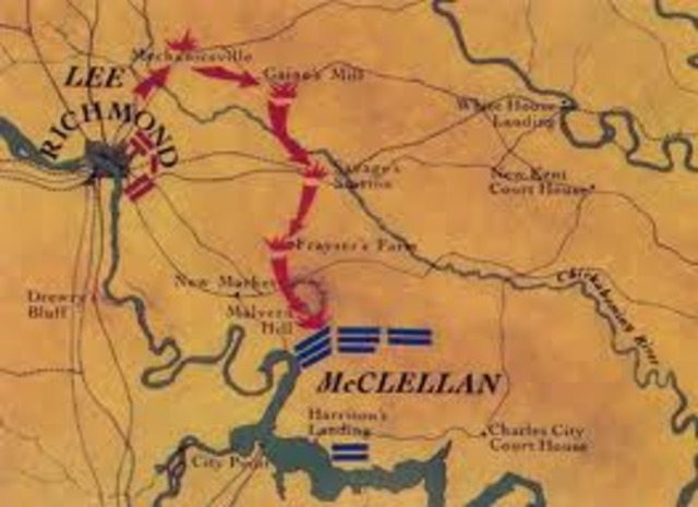 McClellan's Peninsular Campaign also the Seven Day's Battle