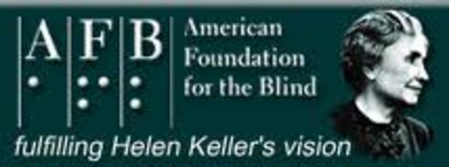 Helen joins the American Foundation for the Blind