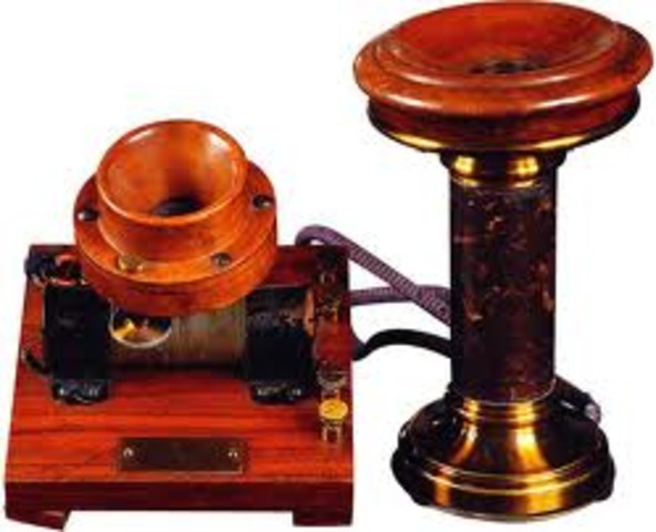 El primer telèfon (Alexander Graham Bell)