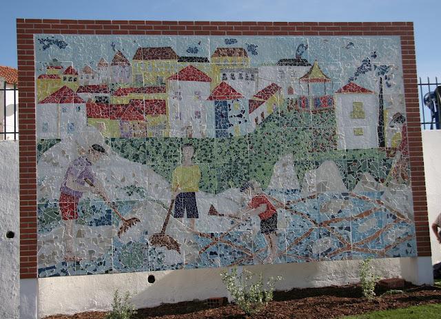 Painel Mural em Mosaico de Azulejo