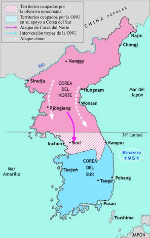 Guerra de Corea.  El primer conflicto armado