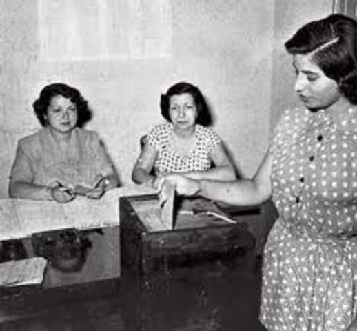 Las Muejres votan