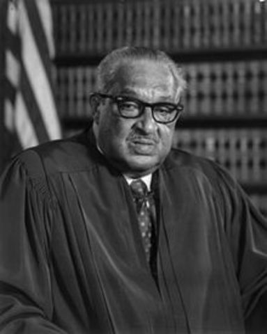 Justice Thurgood Marshall, FIrst Black Supreme Court Justice
