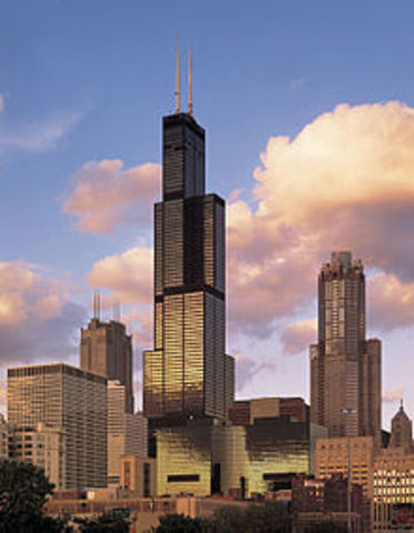 Sears tower is built