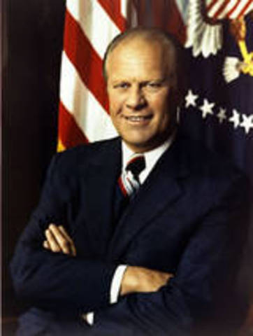 Gerald Ford becomes president