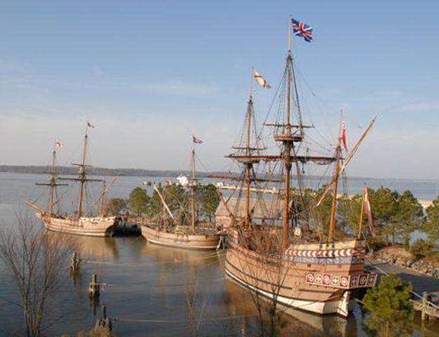 English peoples settle in Jamestown