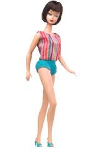 The first bendable legged Barbie was invented