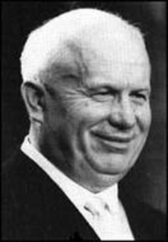 Kruschev emerges as Soviet leader