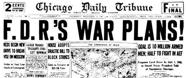 FDR plans for war