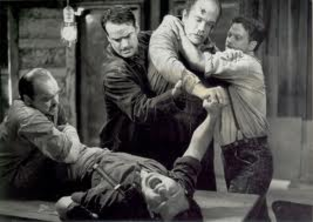 Curley and Lennie's fight