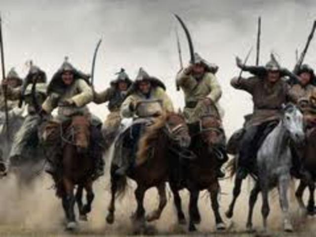 Mongols take western xia