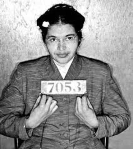 Arrested for refusing to relinquish her seat to a white man