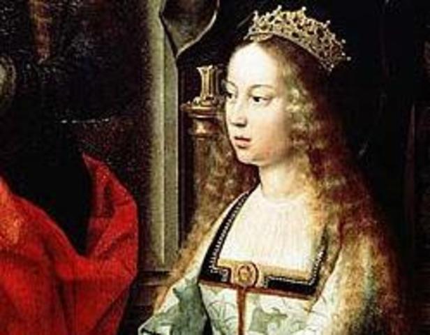 1474 D. Isabel sobe ao trono do reino de Castela