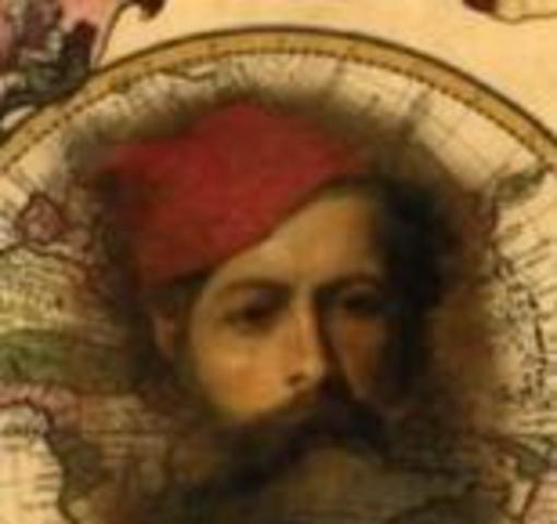 """1525-1526 David Reubeni, um judeu vindo de """"estranãs tierras"""",visita o reino português, vindo anunciar aos cristãos-novos a vinda próxima do Messias. A sua presença provoca inúmeras conversões ao judaísmo e uma enorme instabilidade na sociedade portuguesa"""