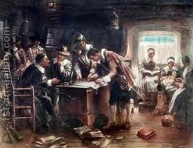 Pilgrims and Mayflower Compact