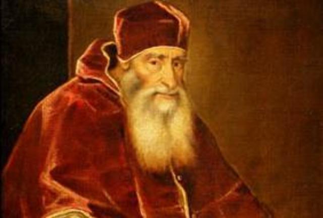 setembro de 1534 Morte de Clemente VII, que foi sucedido por Paulo III