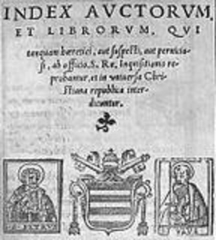 1559 Publicação do Index Auctorum et Librorum sob a égide de D. João Soares, bispo de Coimbra e Inquisidor